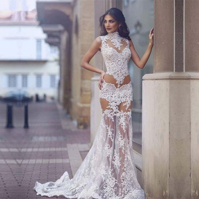Elegant Lace Prom Dress UK | Mermaid Sheer-Skirt Party Gowns_3