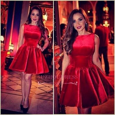 Sleeveless Designer Short Elegant Red Homecoming Dress UK_1