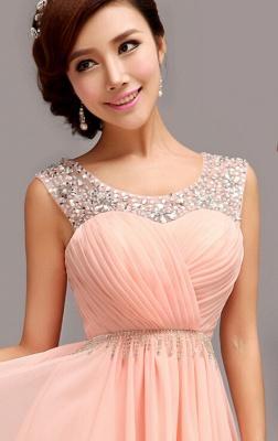 Gorgeous Sleeveless Short Chiffon Homecoming Dress UK With Beadings_5