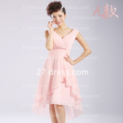 Bridesmaid Dress UKes UK,knee-length Prom Gown A-line 12 Styles Chiffon Ruffles_7