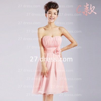 Bridesmaid Dress UKes UK,knee-length Prom Gown A-line 12 Styles Chiffon Ruffles_9