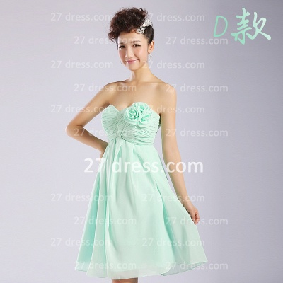 Bridesmaid Dress UKes UK,knee-length Prom Gown A-line 12 Styles Chiffon Ruffles_4