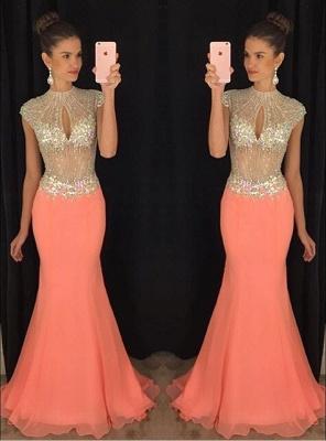 Stunning High-Neck Crystal Prom Dress UKes UK Mermaid Long Chiffon Party Gown TD036 AP0_1
