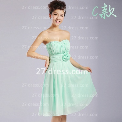 Bridesmaid Dress UKes UK,knee-length Prom Gown A-line 12 Styles Chiffon Ruffles_3