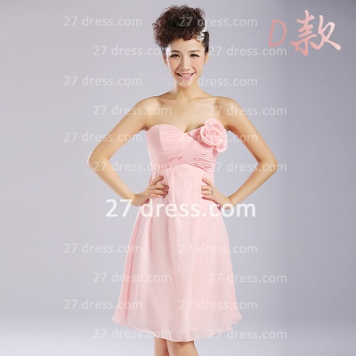 Bridesmaid Dress UKes UK,knee-length Prom Gown A-line 12 Styles Chiffon Ruffles_10