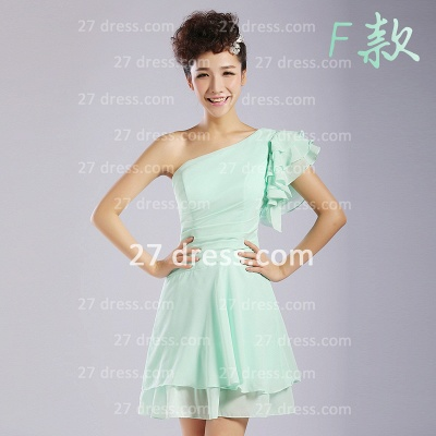 Bridesmaid Dress UKes UK,knee-length Prom Gown A-line 12 Styles Chiffon Ruffles_6