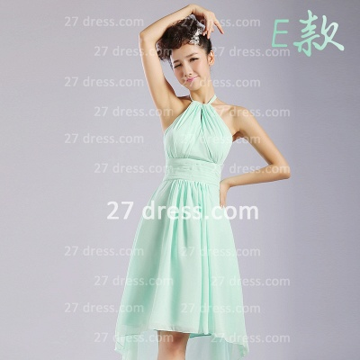 Bridesmaid Dress UKes UK,knee-length Prom Gown A-line 12 Styles Chiffon Ruffles_5