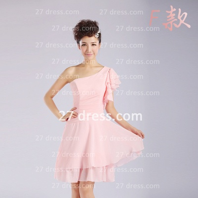 Bridesmaid Dress UKes UK,knee-length Prom Gown A-line 12 Styles Chiffon Ruffles_12