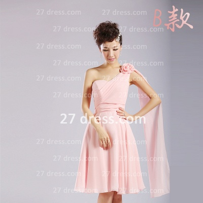 Bridesmaid Dress UKes UK,knee-length Prom Gown A-line 12 Styles Chiffon Ruffles_8