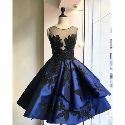 Sexy Appliques Short Prom Dress UK Open Back Homecoming Dress UK_5