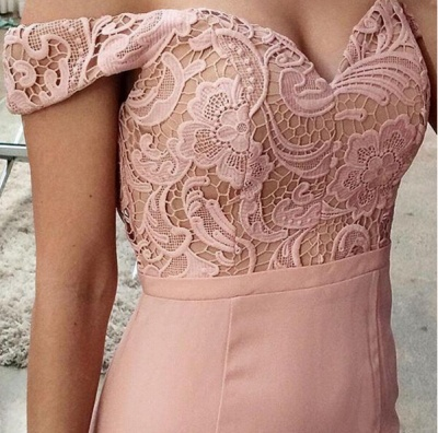 Newest Off-the-shoulder Mermaid Prom Dress UK Lace Floor-length_2