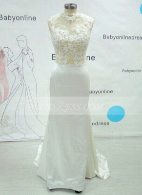 Luxury Mermaid Prom Dress UK Long Lace Sleeveless Evening Party Gowns_2