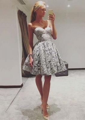 Sexy Sweetheart Lace Homecoming Dress UK   2019 Mini Party Dress UK On Sale_1