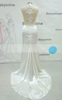Luxury Mermaid Prom Dress UK Long Lace Sleeveless Evening Party Gowns_3