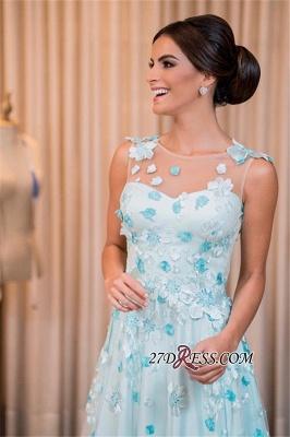 Sleeveless long prom Dress UK, evening Dress UK with appliques_3