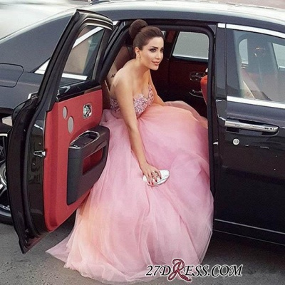 Beadings Fairy Tulle Sweetheart Long Luxury Prom Dress UK_2