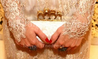 Shining Lace Long Prom Dress UKes UK Jewel Long Sleeve Vestidos Dress UK Applique Backless_4