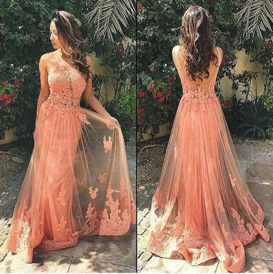 Luxury Sleeveless Lace Prom Dress UK Tulle Open Back_3