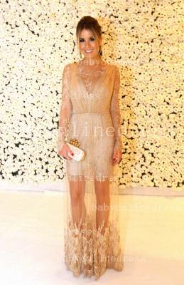 Shining Lace Long Prom Dress UKes UK Jewel Long Sleeve Vestidos Dress UK Applique Backless_1