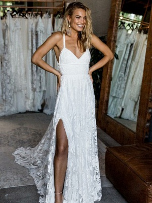 Chic Full Lace Prom Dress UK Online With Split BA7431_1