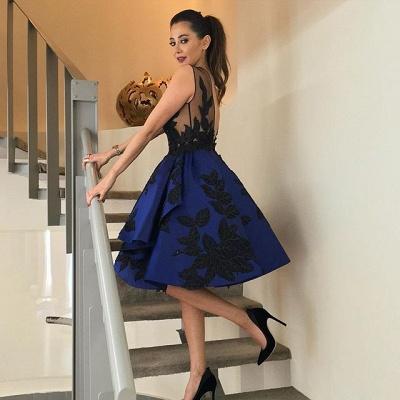 Sexy Appliques Short Prom Dress UK Open Back Homecoming Dress UK_3