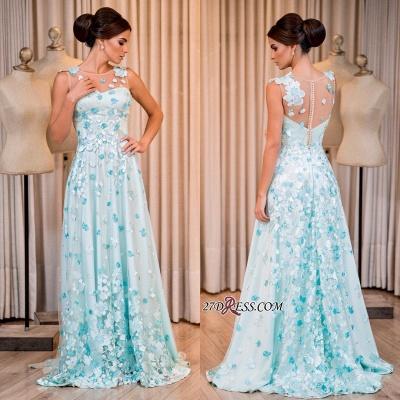 Sleeveless long prom Dress UK, evening Dress UK with appliques_1