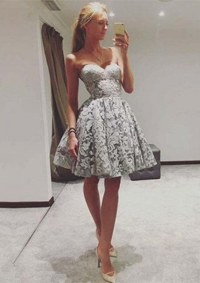 Sexy Sweetheart Lace Homecoming Dress UK | 2019 Mini Party Dress UK On Sale_1
