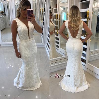 White pearls evening Dress UK, mermaid prom Dress UKes UK_2