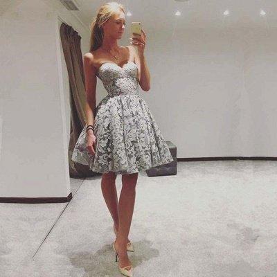 Sexy Sweetheart Lace Homecoming Dress UK | 2019 Mini Party Dress UK On Sale_3