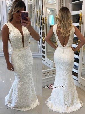 White pearls evening Dress UK, mermaid prom Dress UKes UK_3