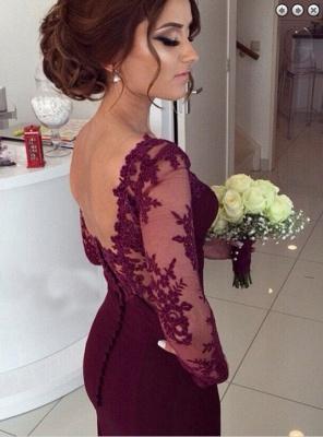 Luxury Long Sleeves Lace Appliques Evening Dress UK Mermaid Floor-Length_3
