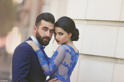 Delicate Ruyal Blue Appliques Prom Dress UK Long Sleeve_5