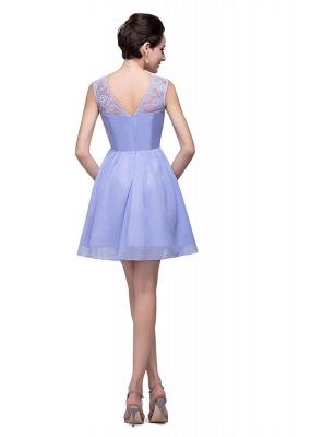 Lovely Sleeveless SHort Homecoming Dress UK lace_5