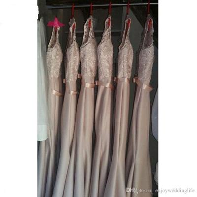Newest Lace Mermaid Illusion Bridesmaid Dress UK Cap Sleeve_7