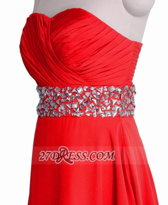 Sexy Semi-sweetheart Sleeveless Chiffon Cocktail Dress UK Zipper Crystals Red Short Homecoming Gown_2