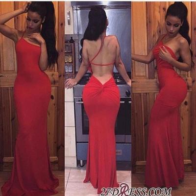 Long Sleeveless Spaghetti-Strap Bodycon Elegant Red Prom Dress UK BA3794 BK0_1