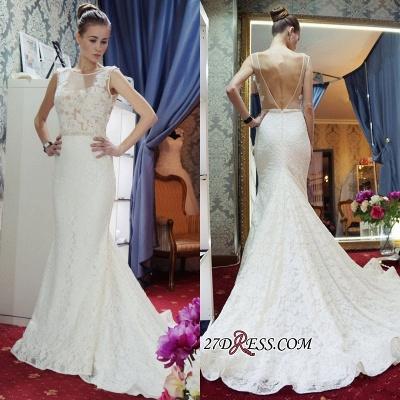 Lace Sleeveless Gorgeous Zipper Sexy Mermaid Backless Wedding Dress_1