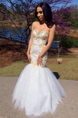 Sweetheart Beadings Prom Dress UK   Mermaid Long Evening Gowns_1