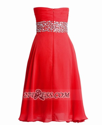 Sexy Semi-sweetheart Sleeveless Chiffon Cocktail Dress UK Zipper Crystals Red Short Homecoming Gown_3