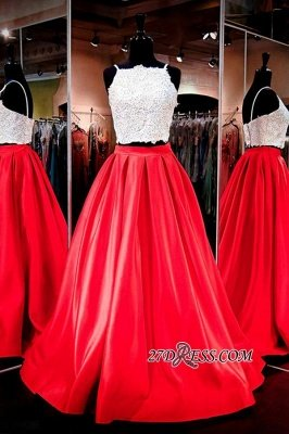 A-Line Gorgeous Two-Piece Lace Prom Dress UK_2